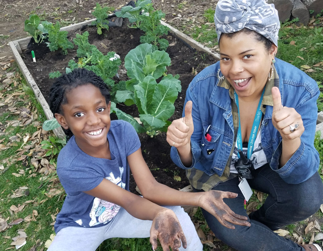 Gardening with students