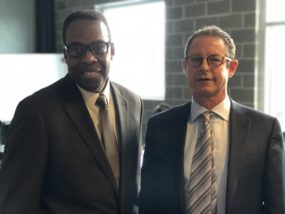 City Council President, Darrell Clarke with H. Chase Lenfest