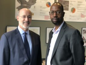 Gov. Wolf with Rev. Mike Major, President of Called to Serve CDC