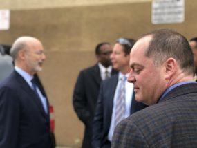 North 10 CEO, Joshua Klaris, accompanies Gov. Wolf on a tour of Liberty Motel
